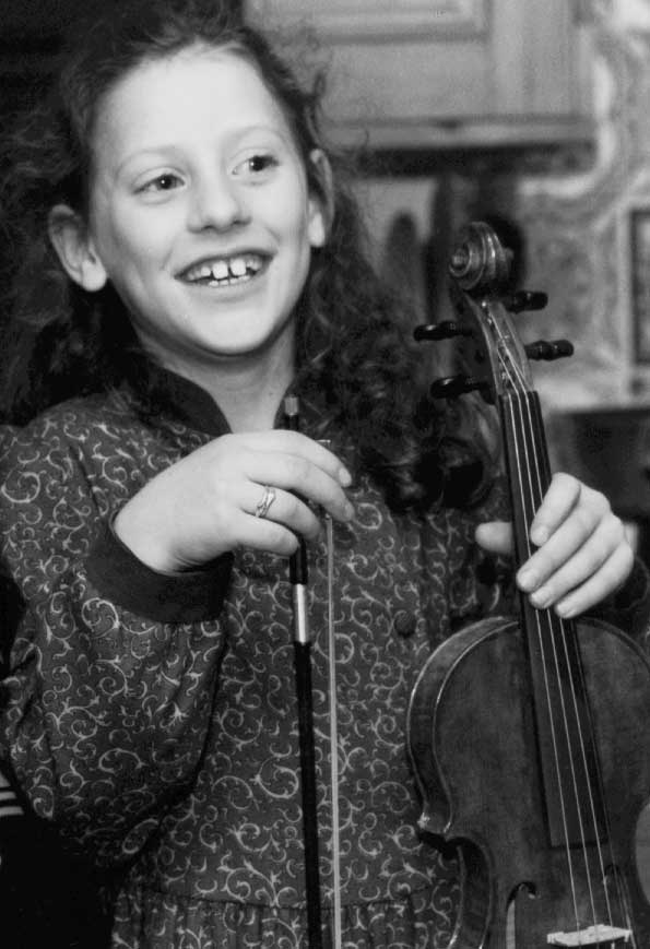 Jessie, aged 8, with violin